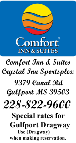Comfort In Prefered Lodging for Gulfport Dragway